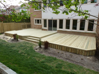 Decks for Cost of composite decking vs pressure treated