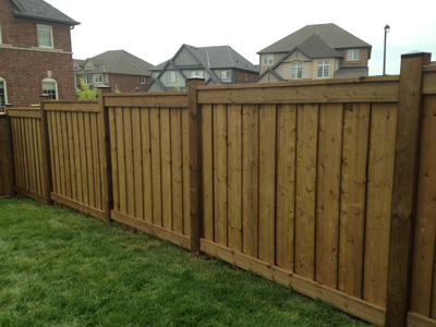 Fences for Brown treated deck boards